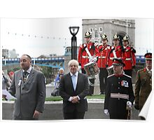 Boris Johnson at the Flag raising ceremony  Poster
