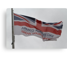 Armed Forces Day Flag Raised at City Hall Canvas Print