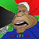 Portrait comique de Nelson Mandela by Binary-Options