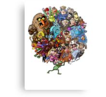 Muppets World of Friendship Metal Print