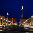 Nice, France - Place Massena Blue Hour  by Georgia Mizuleva