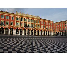 Nice, France, French Riviera - the Cheerful Colors of Place Massena  Photographic Print