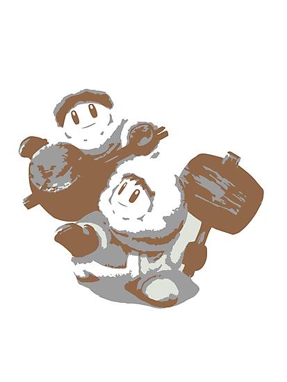 Minimalist Ice Climbers from Super Smash Bros. Brawl by Himehimine