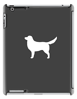 Nova Scotia Duck Tolling Retriever Silhouette (White) by Jenn Inashvili