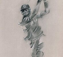 Virat Kohli - original drawing by Paulette Farrell