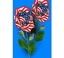 ♥ ˚ • ★ *˚UNIQUELY DESIGNED  U.S. PATRIOTIC ROSE IPHONE CASE♥ ˚ • ★ *˚ by ╰⊰✿ℒᵒᶹᵉ Bonita✿⊱╮ Lalonde✿⊱╮