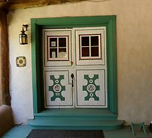 The Portal to Mabel Dodge Luhan's Adobe in Taos by MaryEllen O'Brien