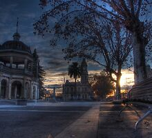 Sunrise on Pall Mall, Bendigo by Joel Bramley