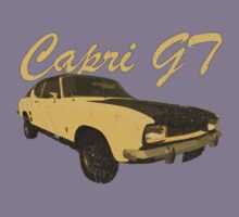 Vintage Aged Look Ford Capri GT Graphic Kids Clothes