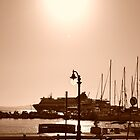 Sepia Sunset in Naxos by MoniqueFlynn