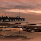 Sunset on South Pier. by Lilian Marshall