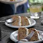 Coffee, bourbon & walnut cake slices by wittieb