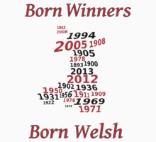 Welsh nations the winning years Wales Kids Clothes