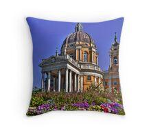 Basilica of Superga Throw Pillow