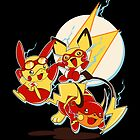 Rai Flash, Pika Flash and Impichu by Gilles Bone