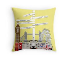 Welcome To London Throw Pillow