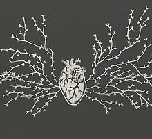 Anatomical Botanical Heart Paper-cut by thethinks