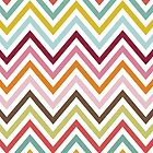 Colorful Zigzag Stripes Lines Green Blue Pink by sitnica