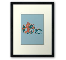 Minimalist Pokemon Trainer from Super Smash Bros. Brawl Framed Print