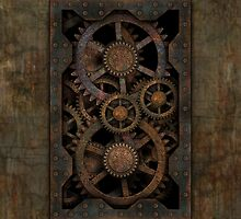 Infernal Steampunk Gears iPad case by Steve Crompton