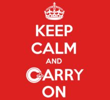 Keep Calm Carry On Calgary White by Morgan Booker
