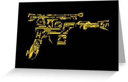 No Match for a Good Blaster - 26 Classic Sci Fi guns by ianleino