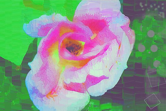 Everyman's rose abstract by ♥⊱ B. Randi Bailey