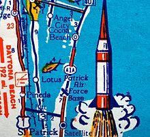 Space Coast Map Print by Noah Browning