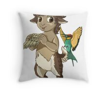 F is for Faun Throw Pillow