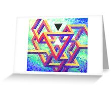 Trixel Maze Greeting Card