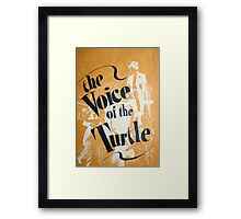 "Day 179 | 365 Day Creative Project  ""The Voice of the Turtle"" Framed Print"