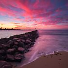 Breakwall Sunset by Kyle  Rodgers