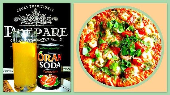 Pizza Scampi & Aranciata by ©The Creative  Minds