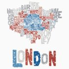 London Boroughs in Type by jorgenmac