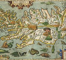 Iceland Map 1590 by VintageLevel