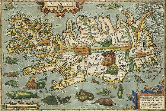 Iceland Map 1590 by VintageLevel