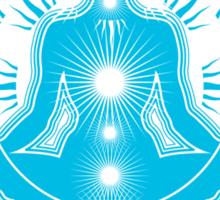 Yoga pose Sky Blue-White Sticker
