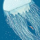 Swimming with the jellyfish by Alessandro Bonaccorsi