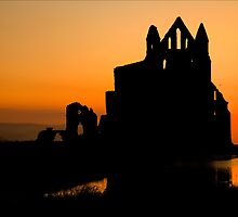 Whitby Abbey Sunset by paulwhittle