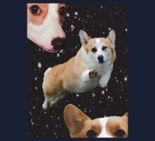 corgis in space by TheMightyBoots