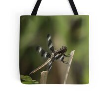 Dragonfly Reads Morning Newspaper Tote Bag