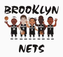 NBAToon of Kevin Garnett, Paul Pierce, Deron Williams, Joe Johnson, Brook Lopez, player of Brooklyn Nets by D4RK0