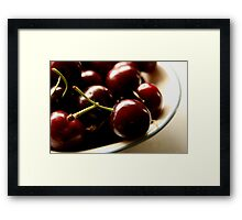 A Bowl Of Cherries Framed Print