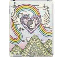 Yin Yang Heart Rainbow iPad Case/Skin