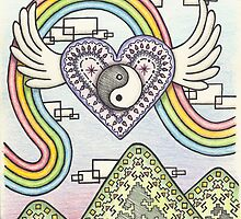 Yin Yang Heart Rainbow by thepixelgarden