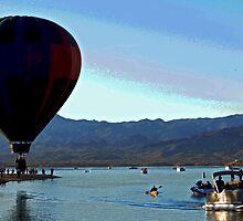 Hot Air Ballon Landing  by Tina Hailey