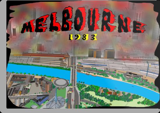 Melbourne on Fire by David Fraser