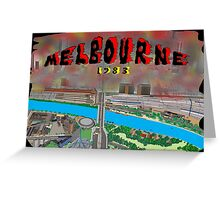 Melbourne on Fire Greeting Card