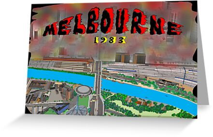 Melbourne on Fire by David Fraser