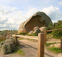 Sculptured Rock, Granite Island. by Gail Mew
